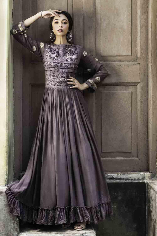 stylish sangeet gown drape