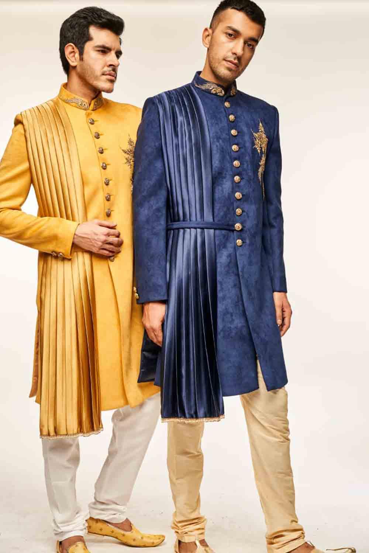 drape stylish indowestern menswear